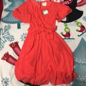 Kate Spade Clipped Chiffon Dress
